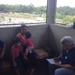 staff doctor checking kids